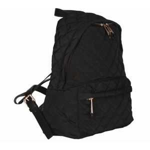 sol and selene Bags - • Sol & Selene • Black Quilted Backpack